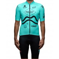 2016 Maap Team Blue Cycling Jersey And Bib Shorts Set