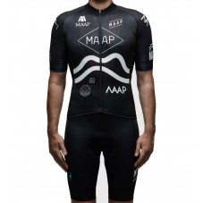 2016 Maap Team Black Cycling Jersey And Bib Shorts Set