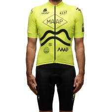 2016 Maap Team Yellow Cycling Jersey And Bib Shorts Set