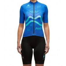 2016 Maap Team Blue Women's Cycling Jersey And Bib Shorts Set