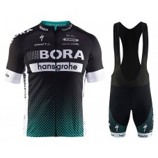 2017 Team Bora Hansgrohe Black Cycling Jersey And Bib Shorts Set