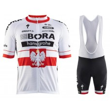 2017 Bora Hansgrohe Polish Champion Cycling Jersey And Bib Shorts Set