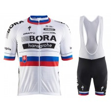 2017 Bora Hansgrohe Slovakia Champion Cycling Jersey And Bib Shorts Set