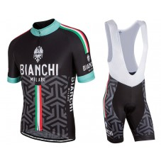 2017 Bianchi Milano Pontesei Cycling Jersey And Bib Shorts Set