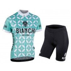 2017 Bianchi Milano Malgina Light-Green Women's Cycling Jersey And Shorts Set