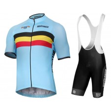 2017 Belgium National Team Cycling Jersey And Bib Shorts Set