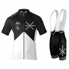2017 Tokyo X Morvelo Black-White Cycling Jersey And Bib Shorts Set