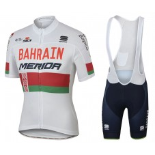 2017 Bahrain-Merida Belarusian Champion Cycling Jersey And Bib Shorts Set
