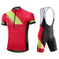 2017 Altura Sportive Red-Yellow Cycling Jersey And Bib Shorts Set