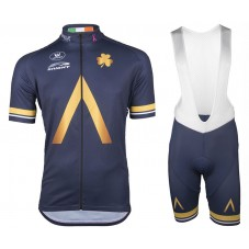 2017 AQUA Sport Blue Cycling Jersey And Bib Shorts Set