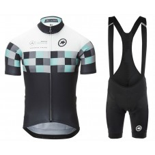 2017 Asos Works Team Grid Cycling Jersey And Bib Shorts Set