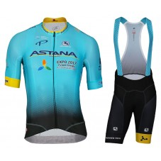 2017 Team ASTANA Cycling Jersey And Bib Shorts Set