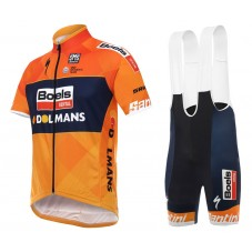 2017 Boels Dolmans Orange Cycling Jersey And Bib Shorts Set