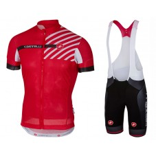 2017 Castelli Free AR 4.1 Red Cycling Jersey And Bib Shorts Set
