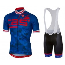2017 Castelli Attacco Blue Cycling Jersey And Bib Shorts Set