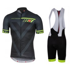 2017 Castelli Velocissimo Black Cycling Jersey And Bib Shorts Set