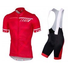 2017 Castelli Velocissimo Red Cycling Jersey And Bib Shorts Set