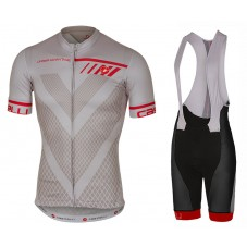 2017 Castelli Velocissimo Grey Cycling Jersey And Bib Shorts Set