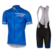 2017 Castelli Velocissimo Blue Cycling Jersey And Bib Shorts Set