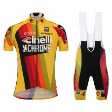 2017 Cinelli Chrome Yellow Cycling Jersey And Bib Shorts Set