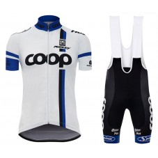 2017 Team Coop White Cycling Jersey And Bib Shorts Set