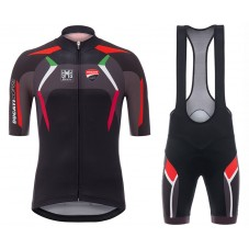 2017 Ducati Corse Black Cycling Jersey And Bib Shorts Set