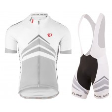 2017 Pearl Izumi Elite Pursuit White Cycling Jersey And Bib Shorts Set
