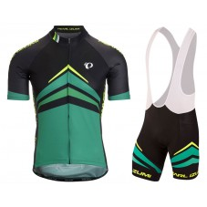 2017 Pearl Izumi Elite Pursuit Green Cycling Jersey And Bib Shorts Set