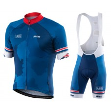 2017 Kalas HSBC GB Dark Blue Cycling Jersey And Bib Shorts Set