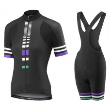 2017 Liv Zebra Women's Black Cycling Jersey And Bib Shorts Set