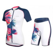2017 Rh+ Venus Women's White Cycling Jersey And Shorts Set