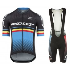 2017 Ridley Rincon Black-Blue Cycling Jersey And Bib Shorts Set