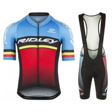 2017 Ridley Rincon Blue-Red Cycling Jersey And Bib Shorts Set