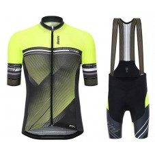 2017 Santini Tono Yellow Cycling Jersey And Bib Shorts Set