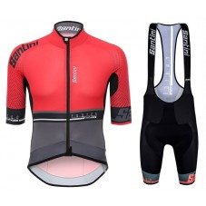 2017 Santini Photon 3.0 Red Cycling Jersey And Bib Shorts Set