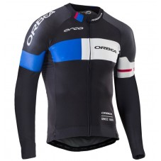 2016 Orbea Team Pro Black-Blue Cycling Long Sleeve Jersey