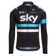 2016 Team Sky Pro Black Cycling Long Sleeve Jersey
