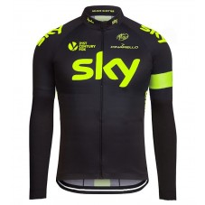 2016 Sky Team Fluo Edition Cycling Long Sleeve Jersey