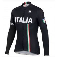 2016 Sportful Italy IT Black Cycling Long Sleeve Jersey
