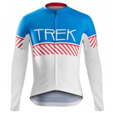 2016 Bontrager Trek Specter Vintage White-Blue Cycling Long Sleeve Jersey