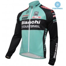 2016 Bianchi MTB Green Thermal Long Sleeve Cycling Jersey