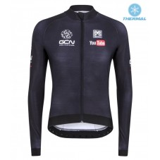 2016 GCN Sleek H20  Black Thermal Long Sleeve Cycling Jersey