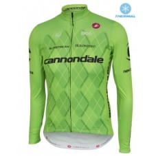 2016 Cannondale Team Green Pro Thermal Long Sleeve Cycling Jersey