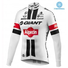 2016 Giant Alpecin TDF Edition White Thermal Long Sleeve Cycling Jersey