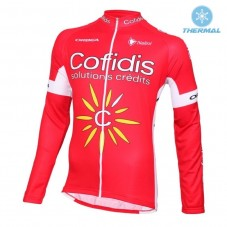 2016 Cofidis Team Thermal Long Sleeve Cycling Jersey
