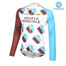 2016 Team Ag2r Thermal Long Sleeve Cycling Jersey