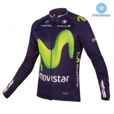 2016 Movistar Team Thermal Long Sleeve Cycling Jersey
