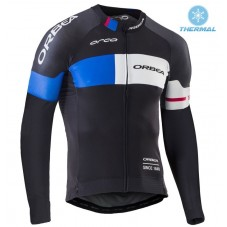 2016 Orbea Team Pro Black-Blue Thermal Long Sleeve Cycling Jersey