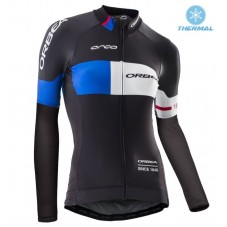 2016 Orbea Pro Women Black-Blue Thermal Long Sleeve Cycling Jersey