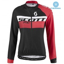 2016 Scott RC Black-Red Women Thermal Long Sleeve Cycling Jersey